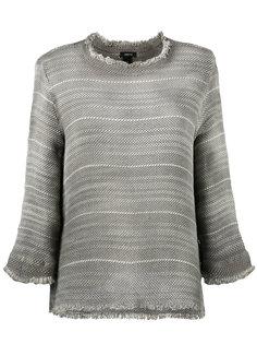 overdyed open weave sweater Avant Toi