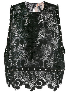 macramé lace studded shell top Nº21