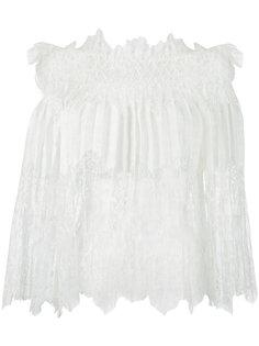 кружевная блузка с открытыми плечами Ermanno Scervino