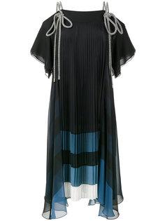 плиссированное платье на завязках Chloé
