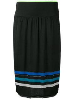 полосатая плиссированная юбка Obessie  Diesel
