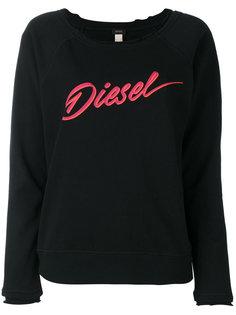 свитер с вырезом-ковш Diesel