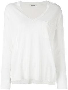 полупрозрачная блузка с нагрудным карманом P.A.R.O.S.H.