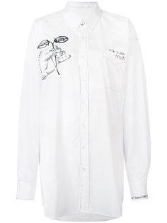 рубашка с графическим принтом Maison Margiela