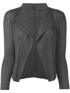 pleated open front cardigan  Pleats Please By Issey Miyake