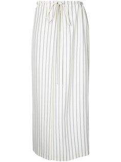 полосатая юбка со стяжкой на талии Jil Sander