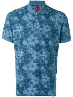футболка-поло с цветочным принтом Isaia