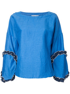 блузка с отделкой рюшами Tsumori Chisato