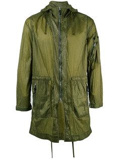 пальто с капюшоном и молнией на рукаве Stone Island Shadow Project