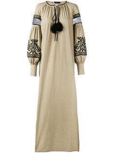 платье с вышивкой и кисточками Wandering