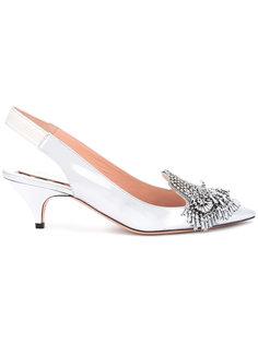 туфли с бусинами Rochas