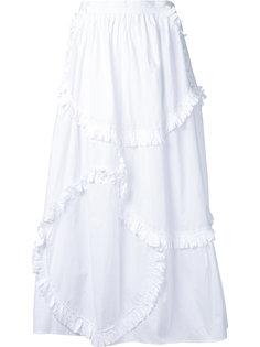 юбка в стиле пэчворк с оборками Tsumori Chisato