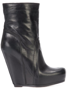 pull-on wedge boots Rick Owens