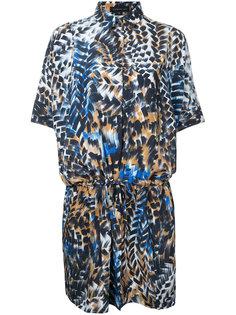 платье-рубашка с принтом и шнурком  Barbara Bui
