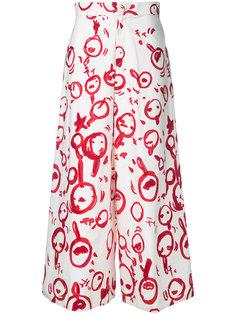 брюки с узором из красочных мазков Tsumori Chisato