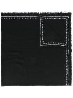 шарф с вышитыми черепами Faliero Sarti