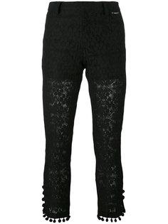 укороченные брюки с помпонами Twin-Set