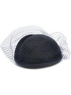 плетеная шляпа с вуалью Federica Moretti