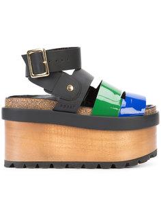 Sacai x Pierre Hardy colour block wedge sandals Sacai