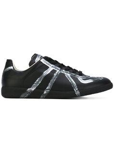 кроссовки с серебристыми полосками Maison Margiela