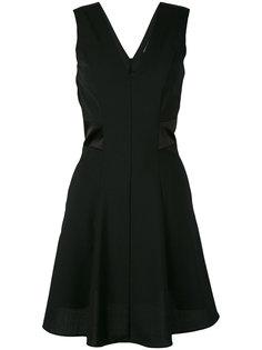 расклешенное платье с V-образным вырезом Twin-Set