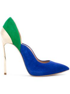 туфли дизайна колор-блок Casadei