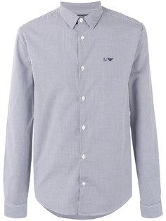 рубашка в клетку гингем Armani Jeans