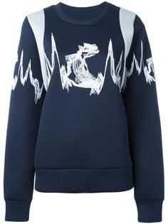трикотажный свитер с вышивкой  MCM