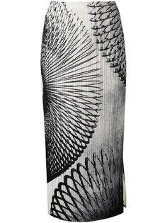 длинное облегающее платье с рисунком Pleats Please By Issey Miyake