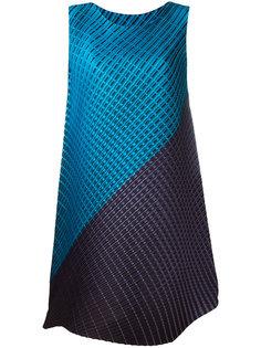 платье с асимметричной вставкой Pleats Please By Issey Miyake