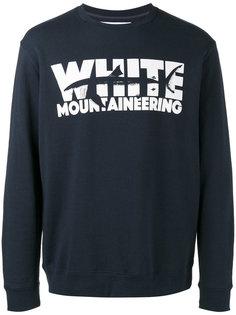 толстовка с принтом логотипа White Mountaineering