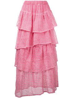 длинная многоярусная юбка Tsumori Chisato