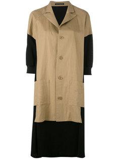 асимметричный пиджак с контрастными панелями Yohji Yamamoto