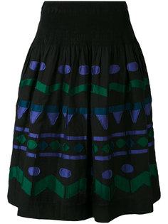 embroidered patch A-line skirt  Issey Miyake Cauliflower