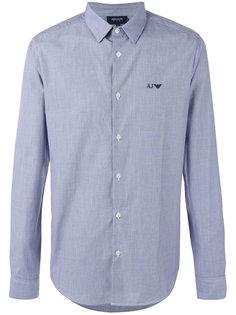 рубашка с вышитым логотипом Armani Jeans