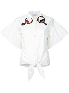 рубашка с вышивкой на воротнике Tsumori Chisato