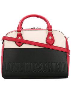 сумка дизайна колор-блок Love Moschino