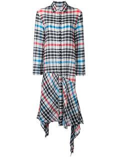 асимметричное клетчатое платье Tsumori Chisato