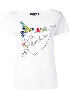 футболка с цветочным принтом  Love Moschino