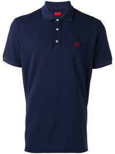 футболка-поло с вышивкой Isaia