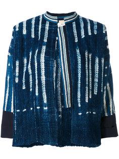 полосатая джинсовая куртка Forte Forte