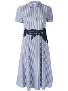 полосатое платье с кружевной отделкой P.A.R.O.S.H.