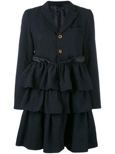 пальто с оборками по подолу Comme Des Garçons