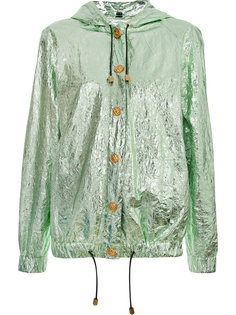 metallic hooded jacket  Fausto Puglisi