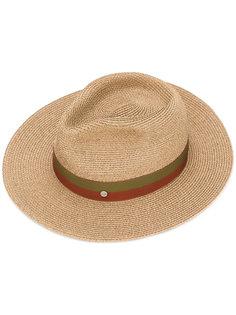 шляпа с двухцветной лентой Maison Michel