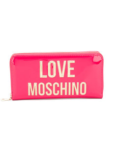 кошелек с золотистым логотипом Love Moschino