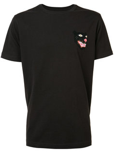футболка с вышивкой в виде головы пантеры Maharishi