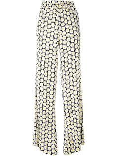 брюки-палаццо с принтом ромашек Love Moschino