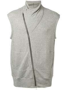 sleeveless asymmetric zip sweatshirt Lost & Found Rooms