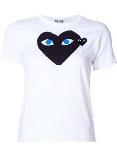 футболка с аппликацией логотипа Comme Des Garçons Play